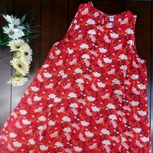 Old Navy Sleeveless Floral  Printed Dress Size XL